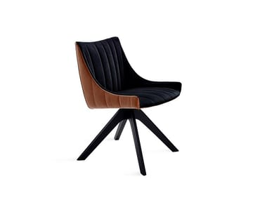 Trestle-based chair with armrests RUBIE ARMCHAIR LOW