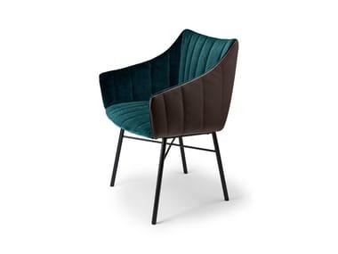 Chair with armrests RUBIE ARMCHAIR HIGH