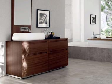Single zebrano vanity unit RUSH - COMPOSITION 13