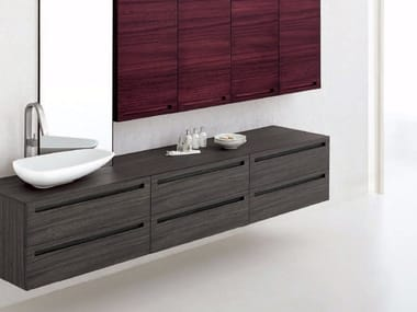 Zebrano bathroom cabinet / vanity unit RUSH - COMPOSITION 8