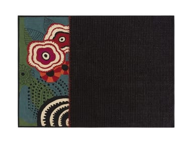 Wool rug with floral pattern RUSTIC CHIC | Rug with floral pattern