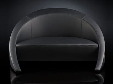 Leather small sofa RUSTY | Small sofa