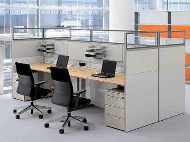 Pannello divisorio da scrivania modulare RV DIVIDING WALL | Pannello divisorio