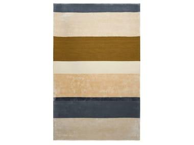 Round striped wool rug RYTHME