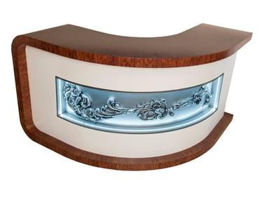 Wooden Reception desk with Built-In Lights Reception desk