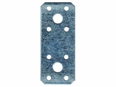 Piastra dritta rettangolare angoli 45° in acciaio zincato Piastra dritta rettangolare angoli 45°
