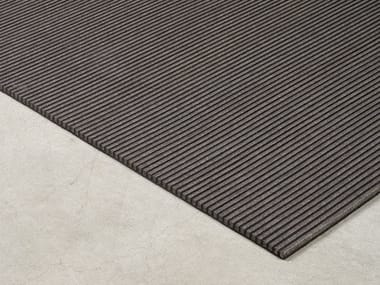 Solid-color rectangular Recycled PET rug STRIPES | Rug