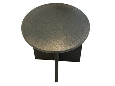Tavolino rotondo in pietra lavica Tavolino rotondo