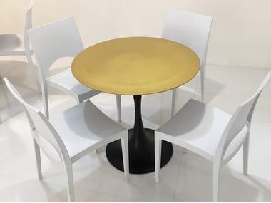 Tavolo rotondo in pietra lavica Tavolo rotondo