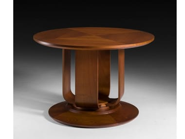 Round wooden living room table Round table