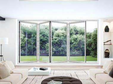 Folding aluminium glass facade S.75 TT