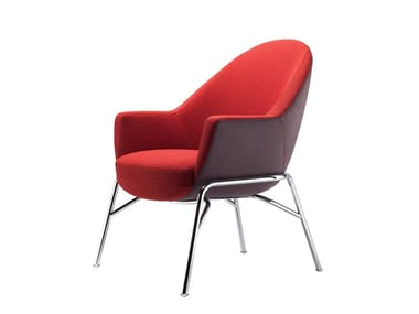 Fabric easy chair with armrests S 831