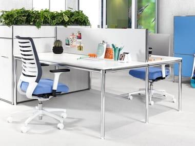 Höhenverstellbarer rechteckiger Büro-Schreibtisch S-DESK | Büro-Schreibtisch