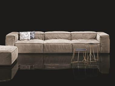 3 seater leather sofa S-PERLA