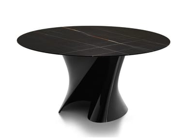 Round marble table S TABLE