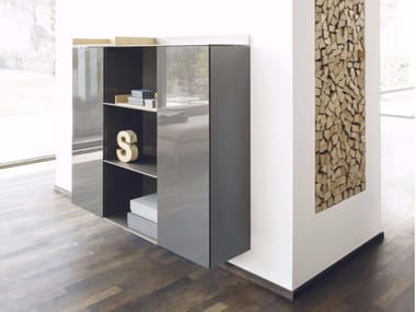 Lacquered suspended highboard S7 | Highboard