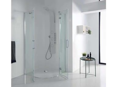 Box doccia angolare con porta a battente S8 MILL INFINITY