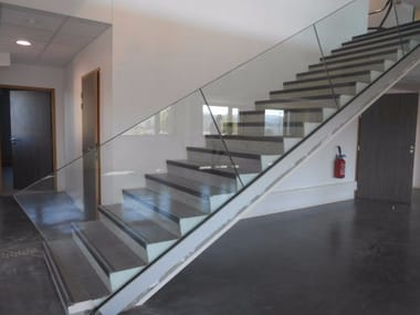 Glass Stair railing SABCO | Stair railing
