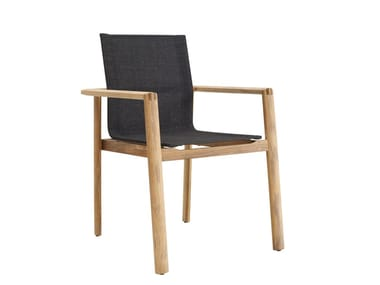 Stackable garden chair with armrests SAFARI | Chair