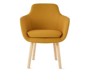 Cadeira lounge estofada de tecido com braços SAIBA | Cadeira lounge