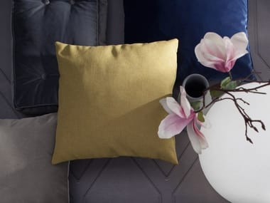 Solid-color square fabric cushion SAILON
