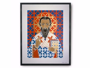 Coated paper Print on paper SAINT AMBROSE
