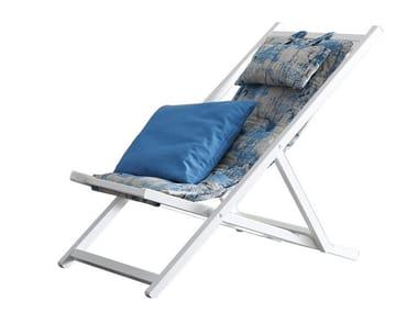 Folding recliner deck chair SAINT TROPEZ