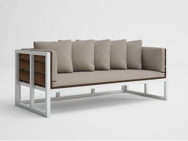 2 seater teak garden sofa SALER SOFT TEAK   Garden sofa