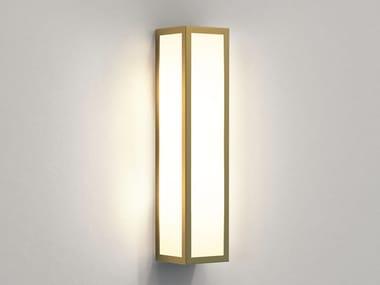Applique per esterno a LED in ottone e vetro SALERNO | Applique per esterno