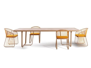 Rectangular laminate garden table SALLY | Garden table