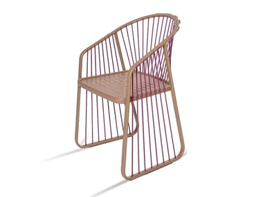 Stainless steel garden chair with armrests SALLY | Stainless steel chair
