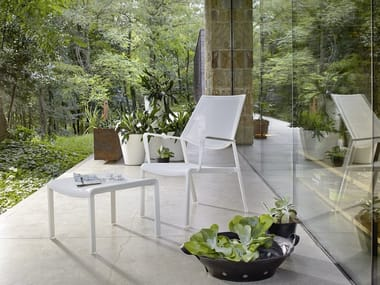 Aluminium garden chair with armrests SAMBA RIO | Garden armchair