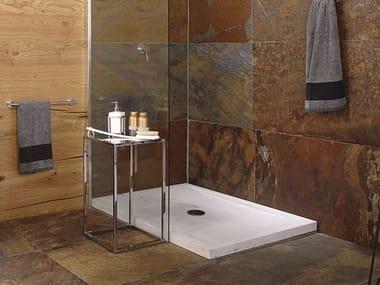 Piatto doccia rettangolare in pietra naturale SAMUI