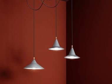Painted metal pendant lamp SAN