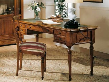 Rectangular solid wood office desk with drawers SAN MARCO | Writing desk