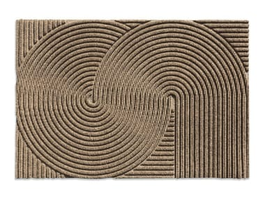 Rectangular recycled material rug SAND
