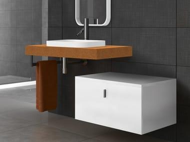 Washbasin countertop / washbasin SAND | Rectangular washbasin
