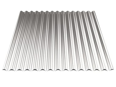 Corrugated and undulated sheet steel SAND18