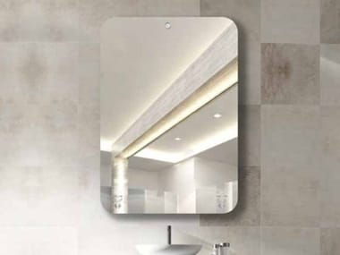 Rectangular wall-mounted mirror with integrated lighting SANDMATIC MINIMAL 1P FOUR ROUND