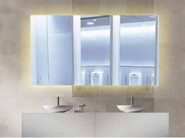Rectangular wall-mounted mirror with integrated lighting SANDMATIC MINIMAL 2P FOUR BRIGHT