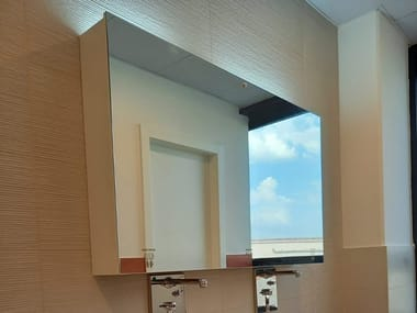 Rectangular wall-mounted mirror with integrated lighting SANDMATIC MINIMAL 2P FOUR