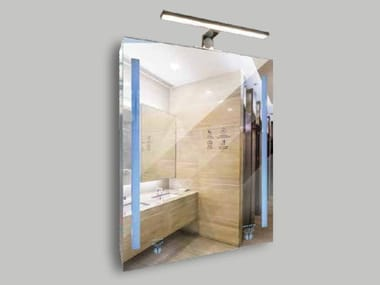 Rectangular wall-mounted mirror with integrated lighting SANDMATIC PRAGMATIC 1P FOUR