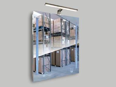 Rectangular wall-mounted mirror with integrated lighting SANDMATIC PRAGMATIC 1P FOUR SCRUB