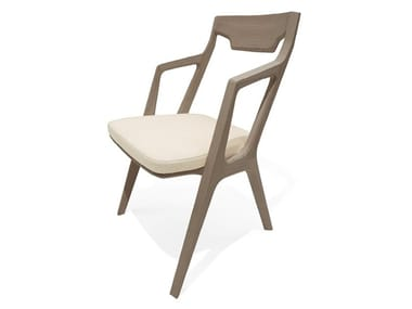 Ash chair with integrated cushion SANDY