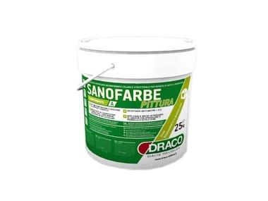 Water repellent water-based paint SANOFARBE PAINT