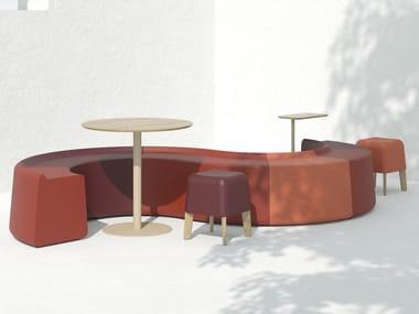 Ecological polyurethane modular seat SAREK L