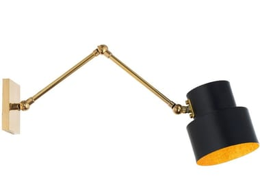 Applique in ottone con braccio flessibile SATELLITE 07