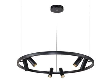 LED metal pendant lamp SATELLITE