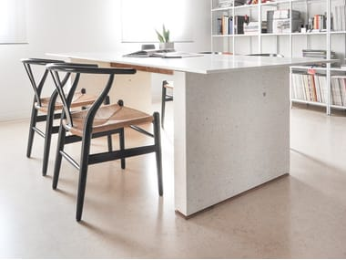 Rectangular Lapitec® table SATIN - BIANCO ASSOLUTO