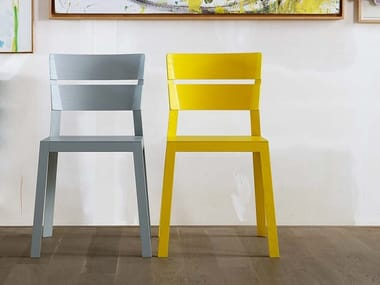 Stackable open back ash chair SATSUMA | Solid wood chair